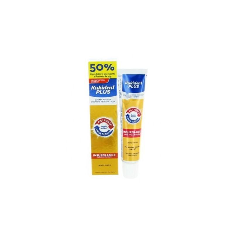 KUKIDENT PLUS DOPPIA AZIONE crema adesiva per dentiera 60g
